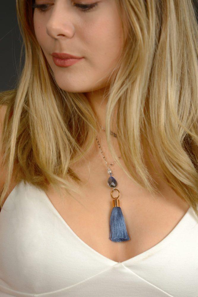 Happiness Shop Online Labrodite focal bead on a tassel Tassel _c 0163